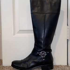 Michael Kors y'all black leather boots